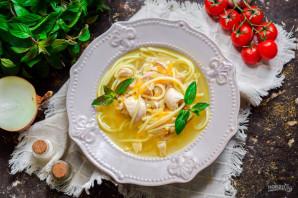Суп с курицей и спагетти - фото шаг 8