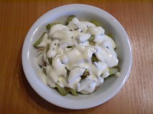 Салат с печенью куриной слоеный - фото шаг 9