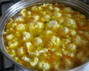 Вегетарианский суп из капусты - фото шаг 7