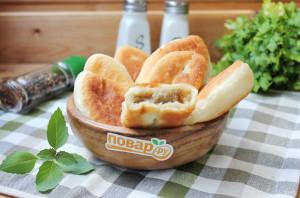 Жареные пирожки с картофелем и печенью - фото шаг 11