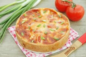 Французский пирог с кукурузой и помидорами - фото шаг 11