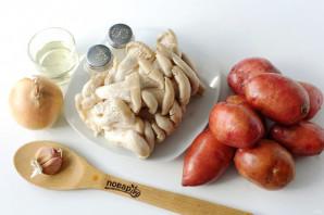 Картошка с грибами в казане - фото шаг 1