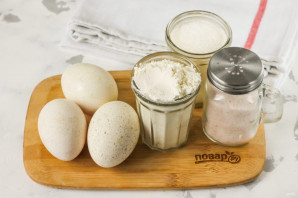 Бисквит из утиных яиц - фото шаг 1