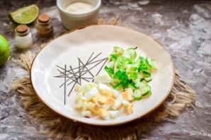 Грибной салат с сыром - фото шаг 3