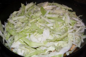 Пирог с курицей и капустой - фото шаг 4