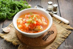 Суп с помидорами и болгарским перцем