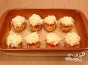 Котлеты с сыром и помидорами - фото шаг 9