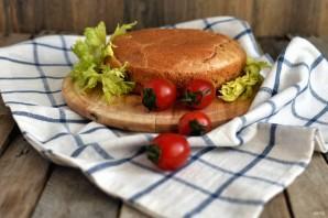 Заливной пирог с курицей и рисом - фото шаг 9