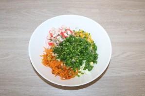 Салат из крабовых палочек с шампиньонами - фото шаг 12