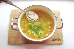 Куриный суп с зеленью - фото шаг 7