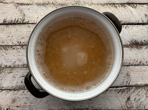 Постный гороховый суп с шампиньонами - фото шаг 2