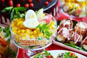 Крабовый салат порционный - фото шаг 7