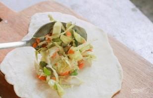 Вегетарианские рулетики с начинкой - фото шаг 3