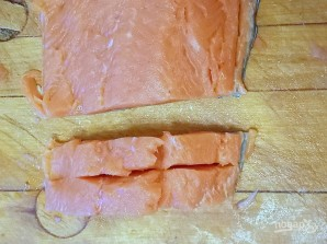 "Рыбный стейк ""Бабочка"" - фото шаг 3"