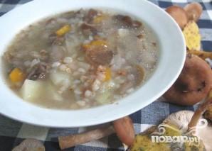 Суп из опят с гречкой - фото шаг 5