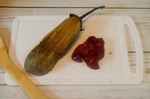 "Запеченный баклажан с творогом ""Биштак"" - фото шаг 2"