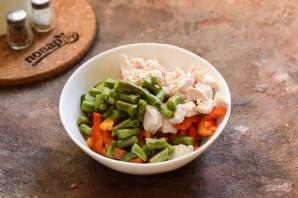 Салат со стручковой фасолью без майонеза - фото шаг 6