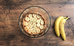 Ванильный пудинг с бананом - фото шаг 5