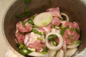 Шашлык из свинины в красном вине - фото шаг 4