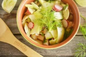 Салат из цуккини, фенхеля и редиса - фото шаг 8