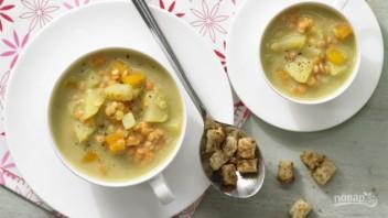 Рецепт супа с гренками - фото шаг 7