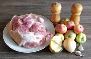 Шашлык в яблочном маринаде - фото шаг 1