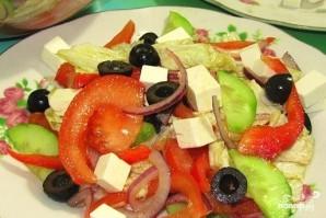 Греческий салат с пекинской капустой - фото шаг 8