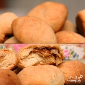Постные пирожки с капустой - фото шаг 8
