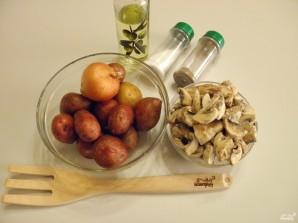 Картошка с шампиньонами на сковороде - фото шаг 1