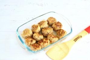 Тефтели в грибном соусе под сыром - фото шаг 4