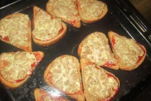 Бутерброды с фаршем в духовке - фото шаг 5