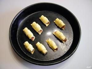 Рогалики из слоеного бездрожжевого теста - фото шаг 7