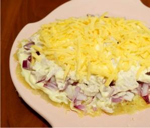 Салат в виде ананаса - фото шаг 2