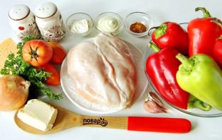 Лодочки из болгарского перца - фото шаг 1