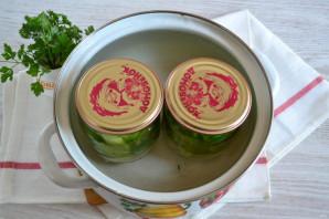 Острые зеленые помидоры с перцем и чесноком - фото шаг 9