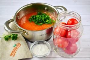 Помидоры в томатном соке - фото шаг 2