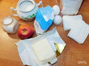 Песочный пирог с яблоками и творогом - фото шаг 1