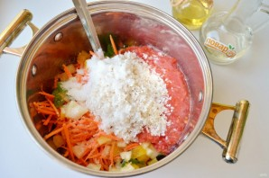 Овощной салат с рисом на зиму - фото шаг 5