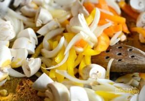 Каджунская паста с курицей - фото шаг 4