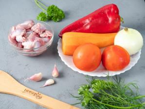 Куриные желудки с овощами - фото шаг 1