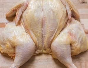Домашняя курица в духовке   - фото шаг 2