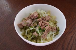 Салат из печени трески (консервированной) - фото шаг 4
