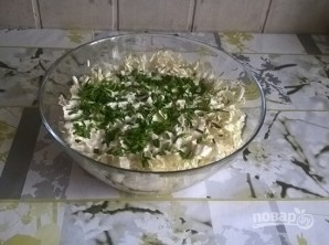 Салат с тунцом и пекинской капустой - фото шаг 6