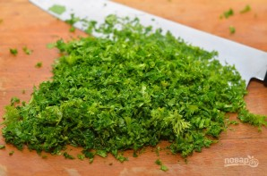 Салат из баклажанов с зеленью - фото шаг 4