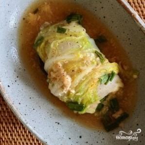 Китайская капуста, фаршированная коричневым рисом - фото шаг 9