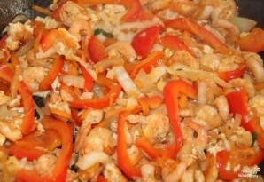 Фунчоза с креветками - фото шаг 5