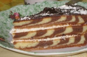 "Торт ""Зебра"" (классический рецепт) - фото шаг 9"