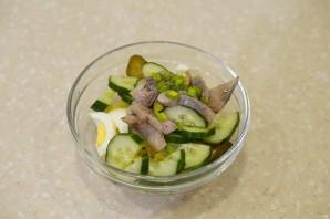Селедочный салат с горчицей - фото шаг 4