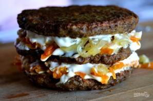 Печеночный торт с луком и морковью - фото шаг 15