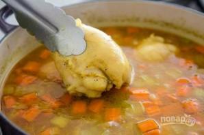 Зимний суп с курицей - фото шаг 5